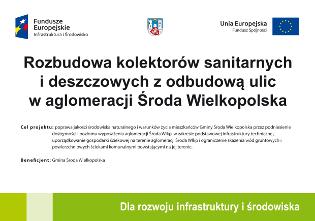 Rozbudowa kolektorów sanitarnych ideszczowych zodbudową ulic waglomeracji Środa Wielkopolska
