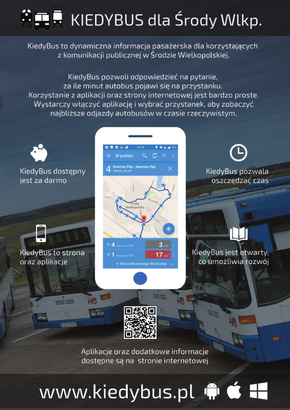 System Kiedybus Komunikacja Publiczna Urząd Miejski W